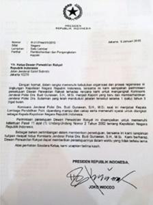 surat jokowi